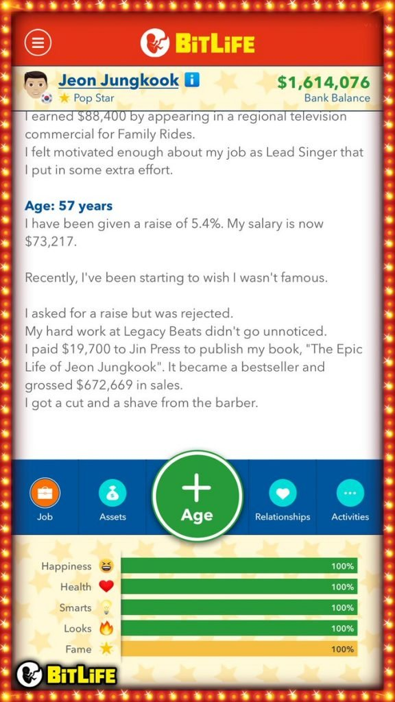 Bitlife How To Become A Famous Celebrity Superstar Updated Wp Mobile Game Guides