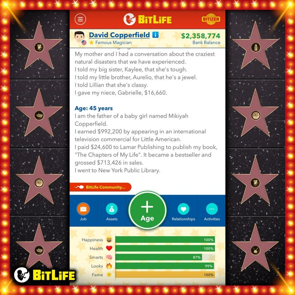How To Become a Famous Celebrity Superstar in BitLife